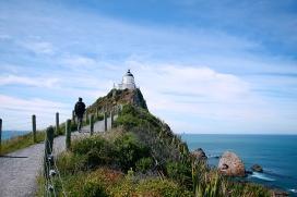 Latarnia Nugget Point, Wyspa Południowa, Nowa Zelandia