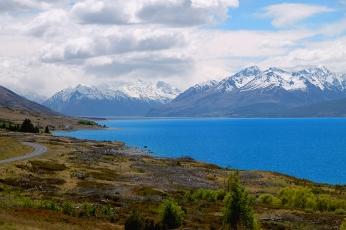 Jezioro Pukaki, Wyspa Południowa, Nowa Zelandia