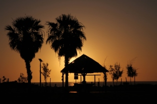 Zachód słońca, Denham, Australia Zachodnia, Australia